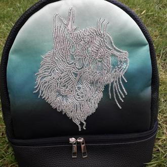 Рюкзак вышитый бисером
