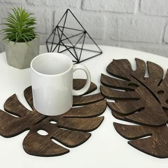 Комплект деревянных подставок под горячее «Лист»