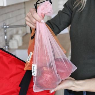 Мешочки сеточки для покупок овощей и фруктов еко наборы