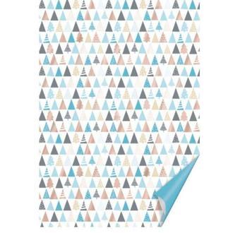 Бумага для скрапбукинга Heyda А4 300г/м2 204771838 двухсторонняя Голубая, Елочки