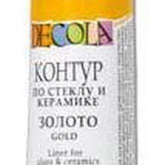 Контурная краска Decola для стекла и керамики ЗХК Невская Палитра 18мл_золото (5303965)
