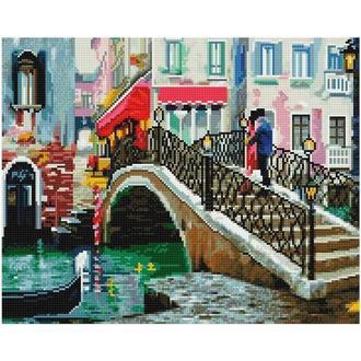 Алмазная живопись мозаика по номерам на холсте 40*50см BrushMe GJ2776 Улочками Венеции