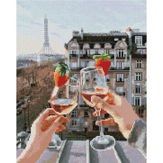 Алмазная живопись мозаика по номерам на холсте 40*50см BrushMe GJ4064 Праздник в Париже