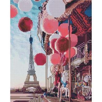 Алмазная живопись мозаика по номерам на холсте 40*50см BrushMe GJ4065 Парижская карусель