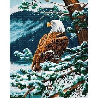 Алмазная живопись мозаика по номерам на холсте 40*50см BrushMe GJ073 Орёл