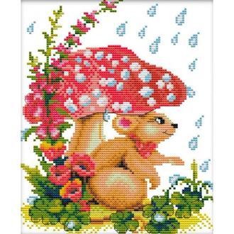 Набор для вышивания Идейка D115 31*37см 11СТ Мышка под грибком