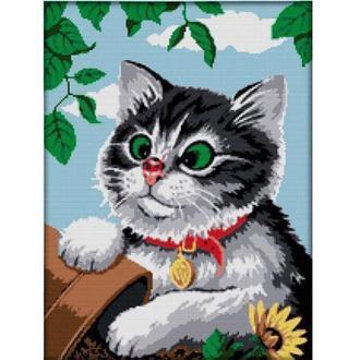 Набор для вышивания Идейка D445 47*61см 11СТ Игривый котёнок