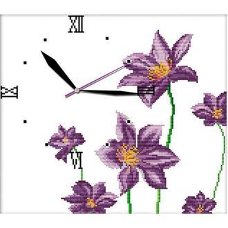 Набор для вышивания Идейка G012 38*35см 14СТ Часы Цветочный аромат