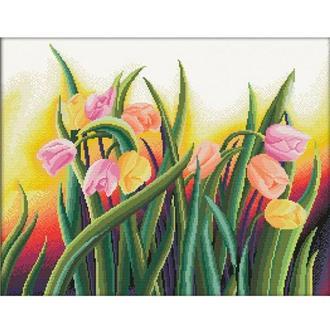 Набор для вышивания Идейка H278 58*47см 14СТ Яркие тюльпаны