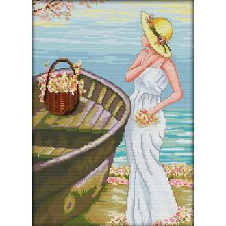 Набор для вышивания Идейка R358-2 43*58см СТ11 Девочка на побережье