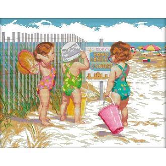 Набор для вышивания Идейка R469 46*38см СТ14 Пляжницы