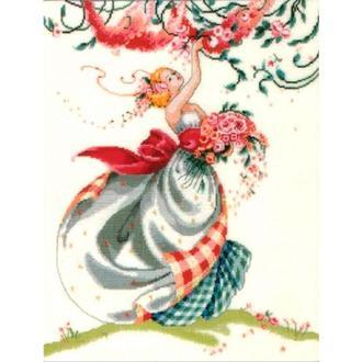 Набор для вышивания Идейка R533 46*59см СТ14 Очаровательная девушка