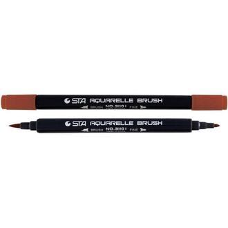Маркер акварельный STA 3110 I 2-3мм_коричневый кирпичный (STA3110I-82)