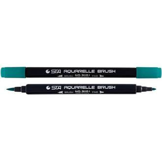 Маркер акварельный STA 3110 I 2-3мм_зеленый кобальт (STA3110I-88)