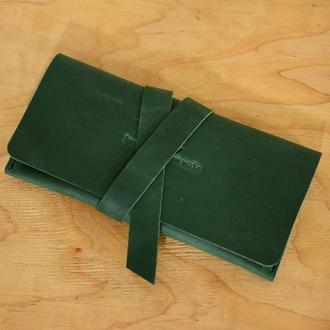 Женский клатч с закруткой |10349| Зеленый