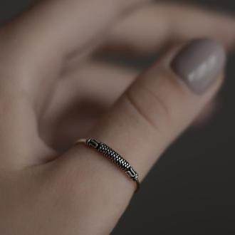 Серебряное кольцо бохо в балийском стиле