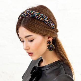 Обруч для волос с хрустальными бусинами Cleopatra ZQ-4-3