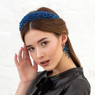 Обруч для волос с хрустальными бусинами Cleopatra ZQ-4-5