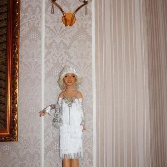 Художественная кукла.Название работы:«Lady Charleston»Имя: Emilia  Рост:98см