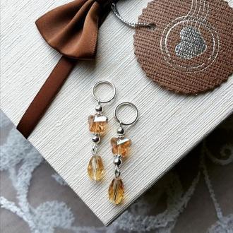 Маркеры для вязания Бабочки золотые. Маркери для в'язання Золоті метелики.
