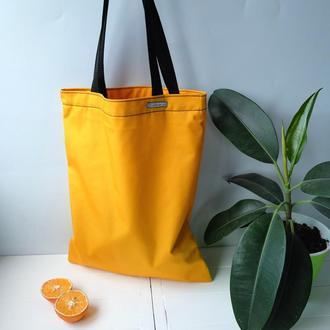 Сумка для покупок, эко сумка желтая, торба, сумка пакет, сумка шоппер 40(3)