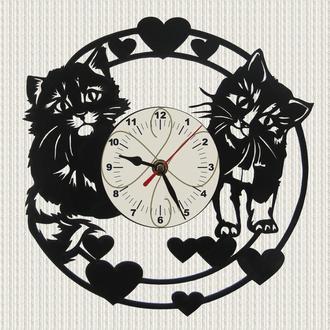 часы настенные симпатичные котята cute kittens