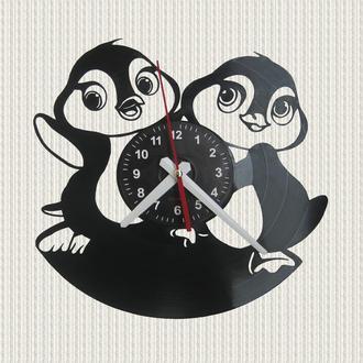 часы настенные веселые пингвины cheerful penguins