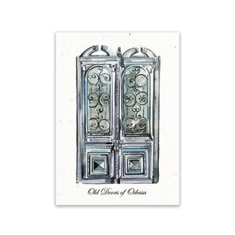 Почтовая открытка из серии «Old Doors of Odessa»