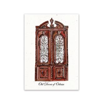 Почтовая ткрытка из серии «Old Doors of Odessa»