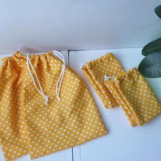 Эко мешочек из хлопка, эко торбочки, мешки для продуктов, хранения 12(9)