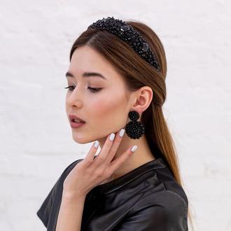 Обруч для волос с хрустальными бусинами и стразами Alexandra ZQ-6-4