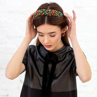 Обруч для волос с хрустальными бусинами и стразами Alexandra ZQ-6-13
