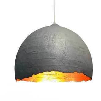 Подвесной светильник из усиленного папье-маше серый P019-19
