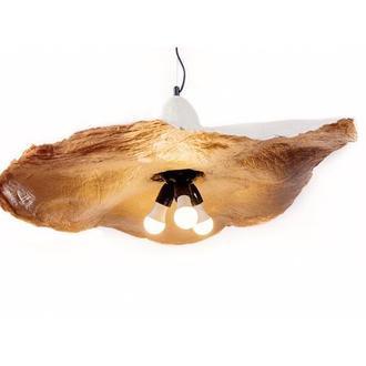 """Подвесной светильник из папье-маше на 3 лампы """"КАПЕЛЮХ"""" серый P025-19"""""""