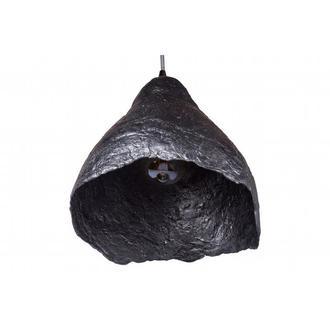 Подвесной светильник из усиленного папье-маше античное серебро P009-19