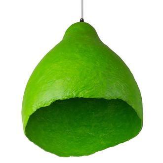 Подвесной светильник из усиленного папье-маше лаймовый P011-19