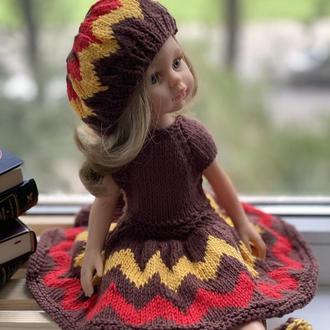 Вязаная Одежда для куклы Паола Рейна 32 см, Наряд для куклы Паола Рейна