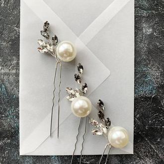 шпильки в прическу шпильки для прически украшение для волос украшение для невесты свадьба