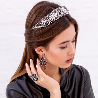 Обруч для волос со стразами Catherine ZQ-8-2