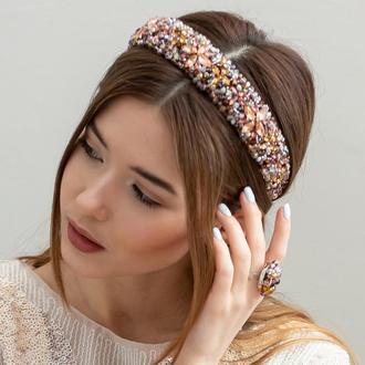 Обруч для волос со стразами Catherine ZQ-8-5