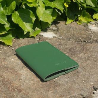 Обложка на паспорт из кожи (green)