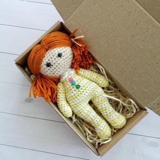 рыжая кукла крючком