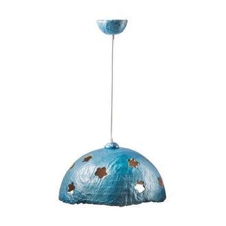 Подвесной светильник из усиленного папье-маше небесно-голубой P013-19