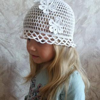 Панамка летняя ажурная для девочки.