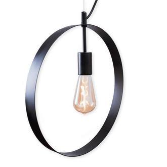 Светильник подвесной металлический круглый черный М002-19