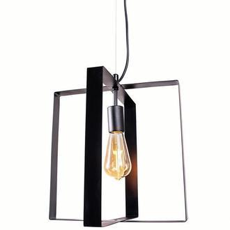 Светильник подвесной металлический черный М007-19