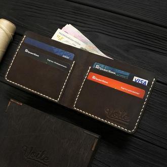 Мужской кожаный бумажник VOILE vl-mw1-brn-beg