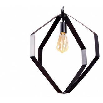 Светильник подвесной металлический черный М008-19