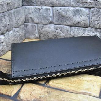 Вместительный кошелек из натуральной кожи KLH02-0