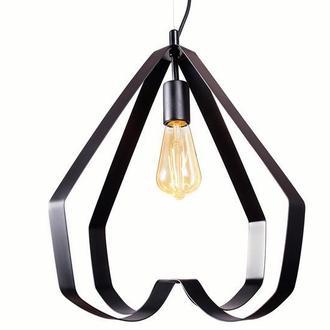 Светильник подвесной металлический черный М009-19